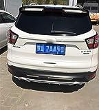 AniFM Spoiler Trasero, para Escape Kuga Spoiler ST ABS Material Car Rear Wing Primer Color Spoiler Trasero para Ford Escape Kuga ST Spoiler 2013-2018,Black