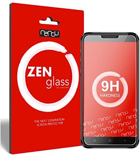 ZenGlass Flexible Glas-Folie kompatibel mit Oukitel U20 Plus Panzerfolie I Bildschirm-Schutzfolie 9H I (Kleiner Als Das Gewölbte Bildschirm)