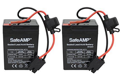 SafeAMP Battery for Fisher-Price Power Wheels Toddler 6-Volt Blue, Pack of 2