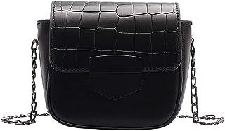 Bolso de hombro pequeño con cadena para mujer, bolsos cruzados de cuero de cocodrilo de moda