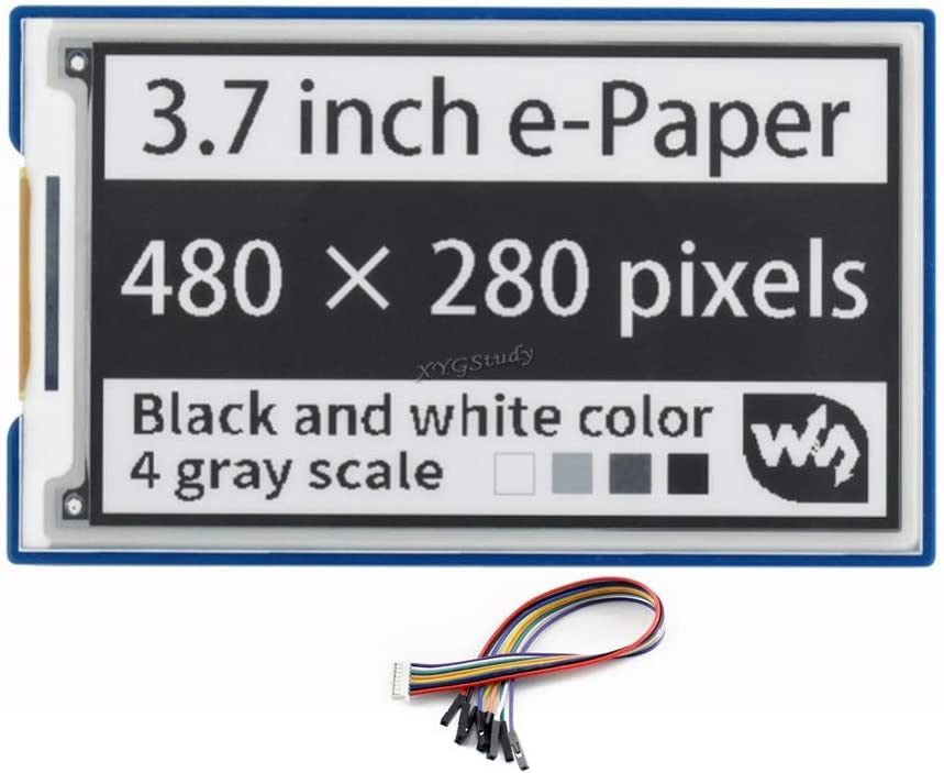 3.7 inch e-Paper Max 74% OFF E-Ink 1 year warranty Display HAT 480×280 Pixels Screen W Black