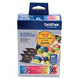 Brother Ink Cartridges, 600 Page Yield, Magenta/YW/Cyan (LC753PKS)