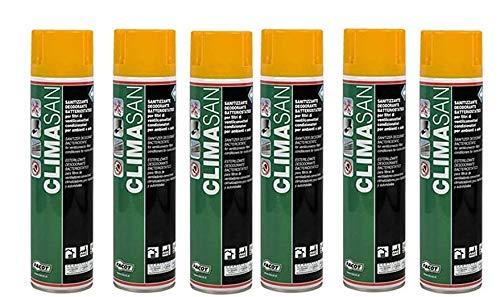 6 X Climasan 600 ml Sanificante Germicida per La sanificazione dei Condizionatori-abitazioni,Uffici,Negozi.