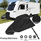 Riiai Caravan Hitch Cover, Universal Waterproof Breathable Tow Hitch Cover Tongue Jack Cover