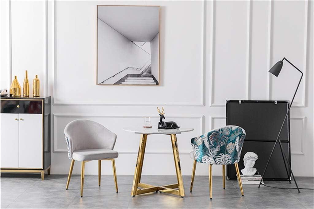 Meubles Fauteuil d'invité Moderne avec Dossier Velours Chaises de Salle à Manger avec 4 Pieds en métal Noirs (Motif de Broderie) Gray