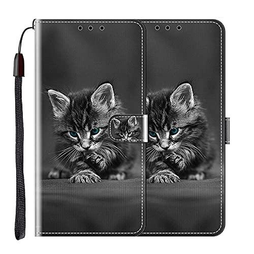 vingarshern Hülle für Elephone S3 Handytasche Klappbares Magnetverschluss Lederhülle Flip Leder Etui Standfunktion Schutzhülle Elephone S3 Hülle Brieftasche (Kätzchen) MEHRWEG