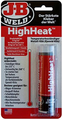 JB Weld 8297-DEU HighHeat, hitzebeständiger Epoxid-Metall-Kitt für alle Hochtemperatur-Arbeiten
