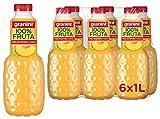 Granini sin azúcar zumo 100 % frutas, zumo melocotón sin azúcares añadidos, zumos granini - pack 6 unidades de 1L