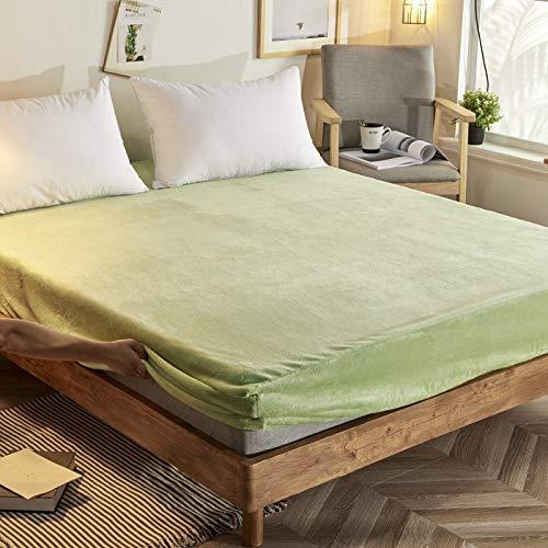 Haiba - Lenzuolo con angoli, 100% puro cotone, con angoli elasticizzati, 180 x 200 + 25 cm