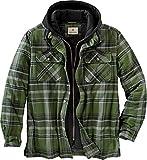 Legendary Whitetails Men's Maplewood Hooded Shirt Jacket, Army Green Plaid, X-Large