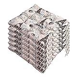 AGDLLYD Lot de 6 galettes de Chaise 40x40, Coussin décoratif Coussin Coussin de Chaise Coussins de Jardin 12 surpiqûres en Un Motifs différents, Polyester (D)