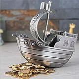 Europäische Retro-Segel-Sparschwein-Bastelornamente aus Metall können auch als Geschenkdosen für...