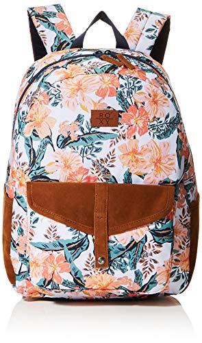 ROXY Womens Carribean Backpack, Bright White MAHE RG S, Medium