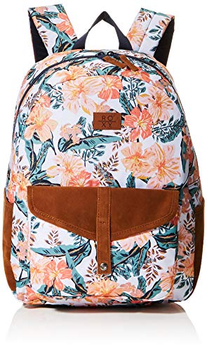 Roxy Womens CARRIBEAN Backpack, BRIGHT WHITE MAHE RG S, Medium