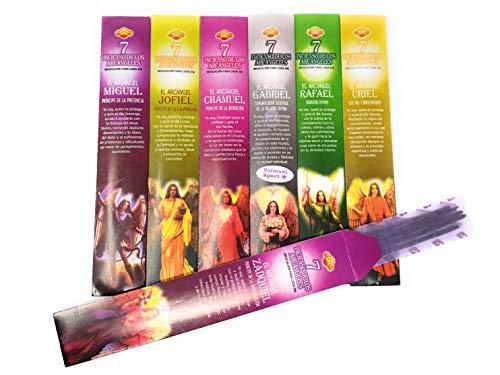Valmoni Sport Incienso de los Siete 7 Arcángeles 7 Paquetes 5 Varillas por Arcángel Aromas