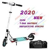 Patinete Eléctrico Kugoo S1 Pro E-Scooter de 350 vatios y 30 km con 30 km/h Velocidad máxima e-Scooter Plegable para Adolescentes Y Adultos con Pantalla LCD (Blanco)