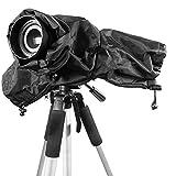 カメラレインカバー 一眼レフ キャノン 防水 レインカバー canon eos 5D3 5D2 70D 6D D90 D7100 ブラック プロフェッショナル 雨の日撮影用品 埃防止 水濡れ防止 一眼レフ対応 WOLFTEETH