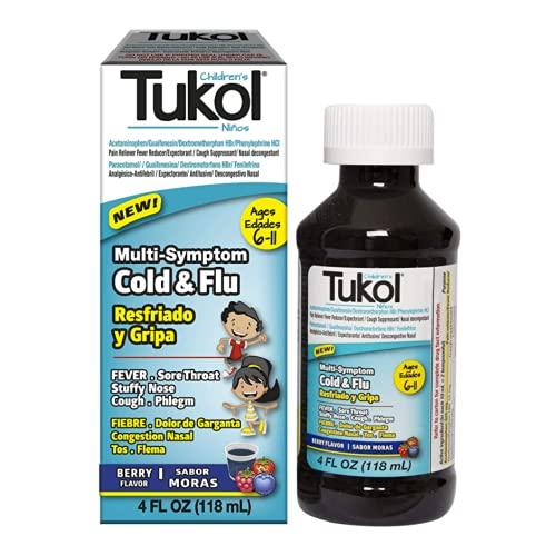 TUKOL Children's Cold and Fever Relief, Berry Flavor, 4 fl. Oz.