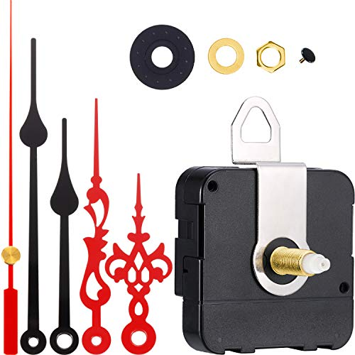 Hicarer 2 Paar Hände Quarzuhr Bewegung DIY Wanduhr Bewegungsmechanismus Uhr Ersatzteile Ersatz (Schaftlänge 4/5 Zoll/ 20 mm, Farbe Set 2)