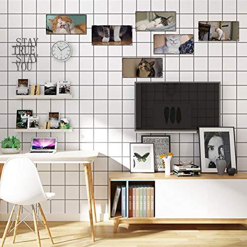 DALAO stickers voor nummerplaat, dierdruk, decoratief, muurstickers, stereo, muurstickers