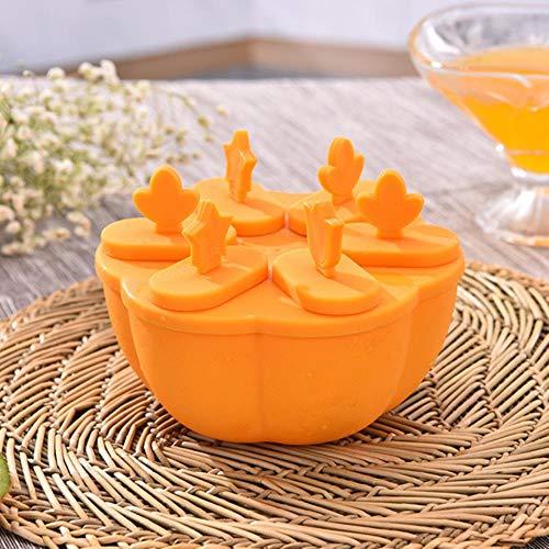 SDK Eiswürfelform mit niedlichem Griff, für die Küche, Eiswürfelform, für Saft, Eis am Stiel Gelber Kreis