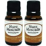Krisamex Nuez Moscada Aceite Esencial Natural 2 Frascos Aromaterapia Difusor Jabones Cosmetica Belleza Cremas Shampo