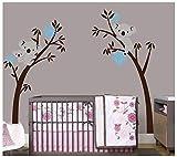 Bdecoll Vinilos decorativos/Árbol de 3 Koalas adhesivos vinilo de niños/habitación Guardería infantil Bebé decoración (azul)