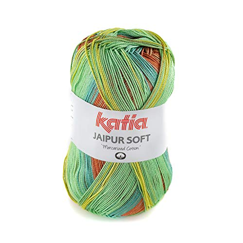 Katia Jaipur Soft Farbe 105, Lacegarn Baumwolle mit Farbverlauf