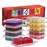 Bauhinia Scented Wax Melts -Set of 10 (2.5 oz) Assorted Wax Warmer Cubes/Tarts - Vanilla, Bergamot, Rosemary, Apple, Gardenia,Lemon, Lavender, Lilac, Rose, Jasmine