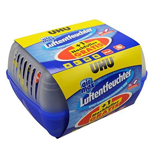 UHU Luftentfeuchter Box 2x1kg Granulat Raumentfeuchter Lufttrockner Entfeuchter