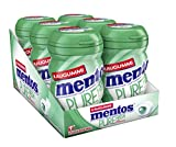 Mentos Kaugummi Pure Fresh Spearmint, 6er Box Kaugmmi-Dragees, zuckerfrei mit Spearmintgeschmack -