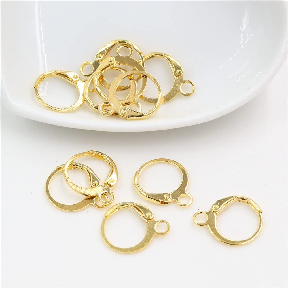 FC-07218 DIY-Jewelry 14x12mm 30pcs Super popular specialty store Gold Plated Fashionable Brass Fren Colors