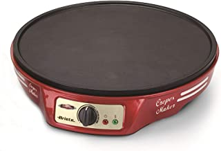 comprar comparacion Ariete 183 CREPERA PARTY TIME, 1000 W, termostato regulable, revestimiento antiadherente, 2 espátulas de madera, indicador...
