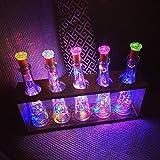 12 Stück LED Flaschenlicht, BIG HOUSE 20 LEDs 2M Lichterkette Kupferdraht batteriebetriebene Weinflasche Lichter mit Kork Schnurlicht für DIY Deko Weihnachten Party Urlaub Stimmungslichter(Mehrfarbig) - 7