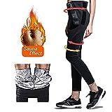 Moonssy Pantalones de Sauna Adelgazantes Mujer NANOTECNOLOGÍA, Leggins Reductores Adelgazantes, Leggins Anticeluliticos Cintura Alta, Mallas Fitness Push Up para Deporte Running Yoga Gym (L)