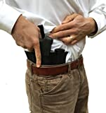 AlphaHolster Side Draw Belly Band Gun Holster for Left or Right Hand Draw Concealed Carry (X-Large Black)