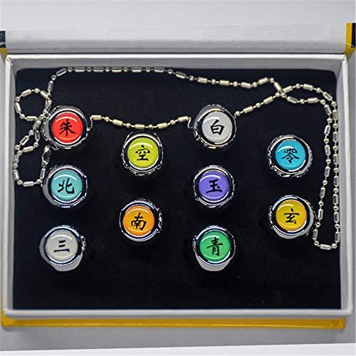 Il pacchetto viene fornito con anello da 10 pezzi + collana da 1 pezzo con la scatola ANELLI DI QUALITÀ: Gli anelli sono realizzati in metallo resistente e di alta qualità, forniscono facilmente una vita liscia e lunga e sono la migliore scelta di ac...