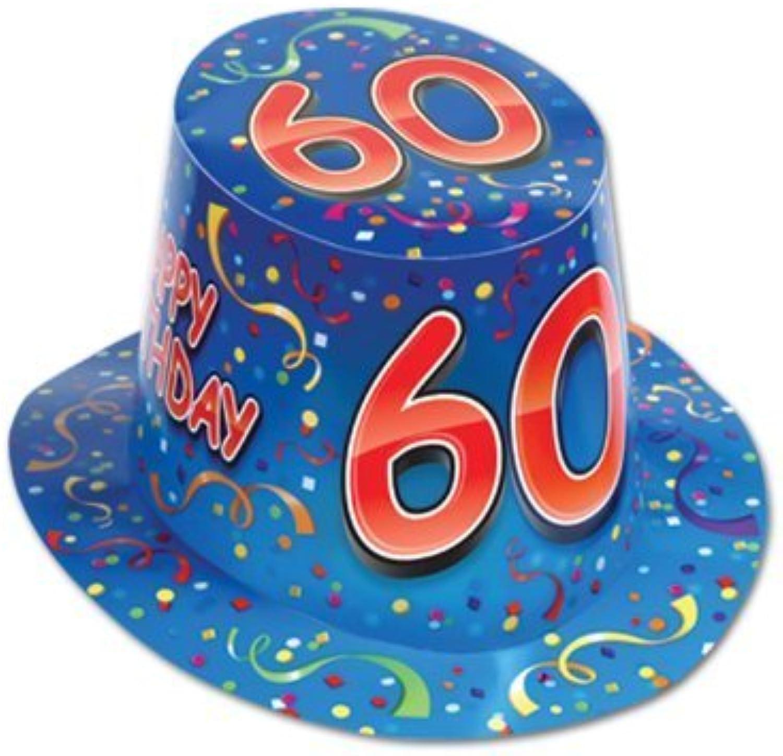 Beistle 66212-60 25-Pack Happy  60  Birthday Hi-Hat by Beistle