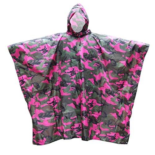 Himifuture Cape de pluie multifonction Poncho Bâche pare-soleil, couverture de pique-nique Tapis de plein air surdimensionné