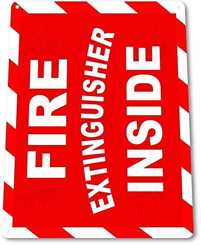 TIN SIGN: B279 brandblusser in blik metalen bord 100030642536 metalen blik teken 8X12 inch