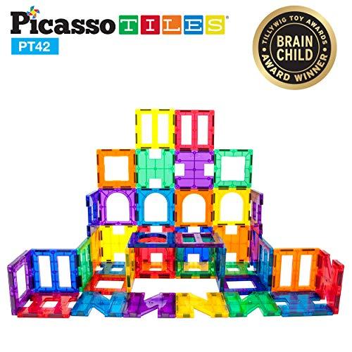 PicassoTiles 42 Piece Magnetic Building Block Set
