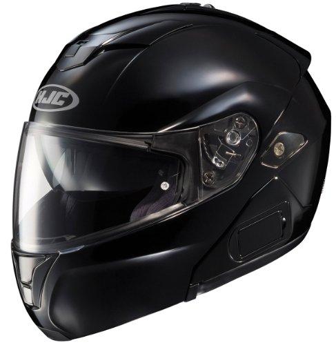 HJC SY-MAXBT III Bluetooth Modular Motorcycle Helmet (Black, Medium)