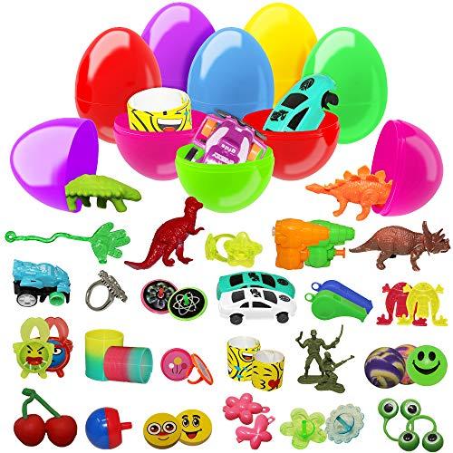 100 uova giocattolo assortite colorate - Perfetti per feste di Pasqua, caccia all'uovo, bomboniere, regalini, ricompense di classe e altro