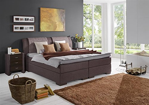 Breckle Boxspringbett 180 x 200 cm Lund Box mit Stauraum 500 Hollanda 1000 Gel Topper Gel Comfort