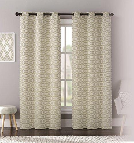 United Curtain Mystique Tessuto Stampato Window Panel Pair, 76da 213,4cm Verde, 193x 213,4cm