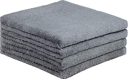 GREEN MARK Textilien 4er Pack Frottier Duschtücher mit Aufhänger 70x140cm DUSCHTUCH 100{2fd62085d207c864530fe89db3aafe4a0542bb9ba112eb8e532fc4b3da31d929} Baumwolle Farbe: Anthrazit grau