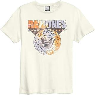 Amplified Clothing Ramones 'Tie Dye Shield' (Natural) T-Shirt