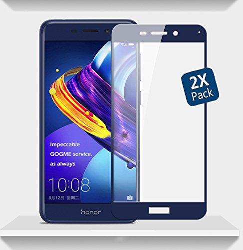 Huawei Honor 6C Pro Schutzfolie, GOGME 0.33mm 2.5D Kanten, 9H Festigkeit Gehärtetes Bruchsicheres Glas Effektivste Schutz des Displays, Blau 2pcs