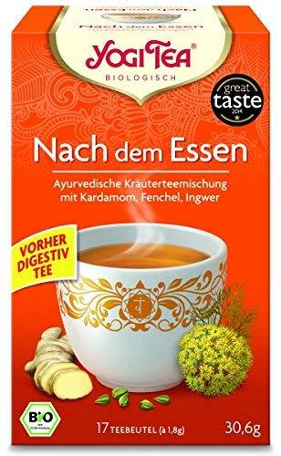 Yogi Tee, Nach dem Essen Tee, Digestiv-Tee Ayurvedische Teemischung, Biotee, lecker, wärmend & Verdauung belebend, 17 Teebeutel, 30,6g
