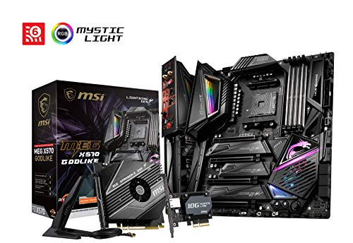 MSI MEG X570 GODLIKE AMD AM4 DDR4 SLI/CF M.2 USB 3.2 Gen 2 WLAN 6 E-ATX Gaming Motherboard